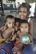 Timor leste camp for internally displaced people Stock Photos