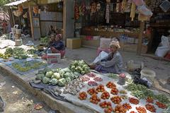 timor leste vegetable market in aileu by east - stock photo