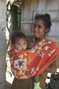 Timor leste mother and child kid fatumerita Stock Photos