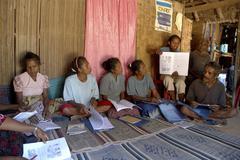 Timor leste adult literacy class fatumerita by Stock Photos