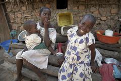 Tansania lasten lapsille kalabezo 2007 afrikka Kuvituskuvat