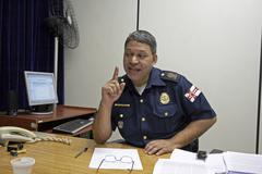 Brazil chief inspector of the central sao paullo Stock Photos