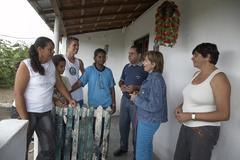 Brazil villagers of laje de carrapicho village Stock Photos