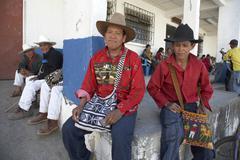 Guatemala mayan men males of san andres el by Stock Photos