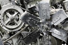 old antique engine - stock photo