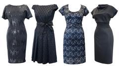black dresses set - stock photo
