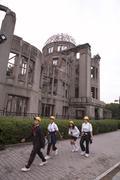 Japani atomi kupoli, jossa atomipommi räjähti Kuvituskuvat