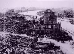 Japani aireal of Atomic kupoli, jossa atomipommi Kuvituskuvat