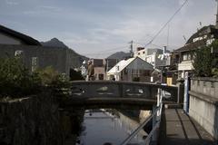 Japan shimoda izu peninsular old stone bridge se Stock Photos
