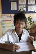 cambodia sen sok primary school anlon knang area - stock photo