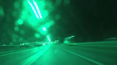 speed on night road - stock footage