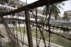 Cambodia tuol sleng museum and former prison of Stock Photos