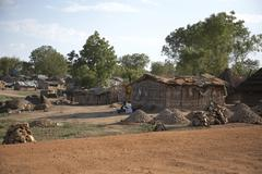 South sudan houses of displaced people in juba Stock Photos