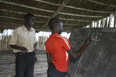 South sudan loka women females adult literacy Stock Photos