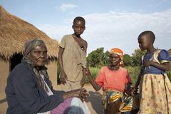 South sudan early morning scene on farm of yei Stock Photos