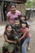 El salvador children kids of las delciias by Stock Photos