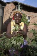 Uganda in the home of smallscale farmer and Stock Photos