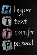Http acronym - hyper text transfer protocol Stock Photos
