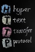 http acronym - hyper text transfer protocol - stock photo