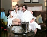 Couple watches TV V1 - PAL Stock Footage