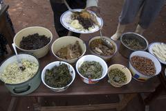 uganda typical foods of the country an array at - stock photo