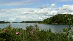 Toby's island lagoon Pocasset Cape Cod Stock Footage