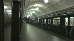Moscow metro train  Stock Footage