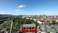 Skyline Vienna from the historic Ferris Wheel Stock Footage