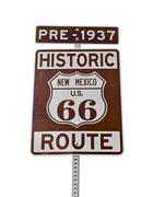 Old route 66 new mexico sign isolated Stock Photos