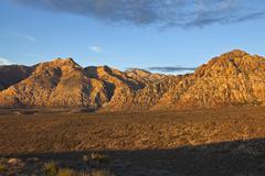 Nevada desert first light Stock Photos
