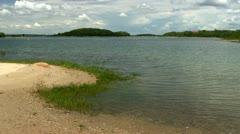Toby's island lagoon Bourne Cape Cod Stock Footage