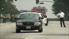 Emergency response los angeles police and fire Stock Footage