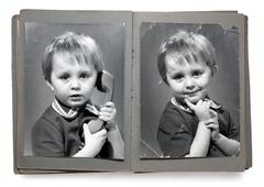 Vintage photoalbum Stock Photos