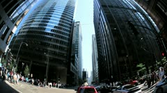 P.O.V. Driving Traffic Intersection, Chicago, USA Stock Footage