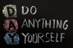 acronym of day - do anything yourself - stock photo