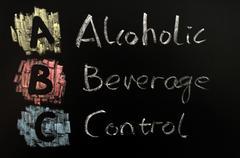 Acronym of abc - alcohol beverage control Stock Photos
