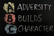 Stock Photo of acronym of abc - adversity builds character