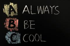 acronym of abc - always be cool - stock photo