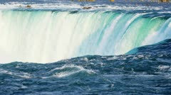 Waterfalls Producing Hydroelectric Power - stock footage