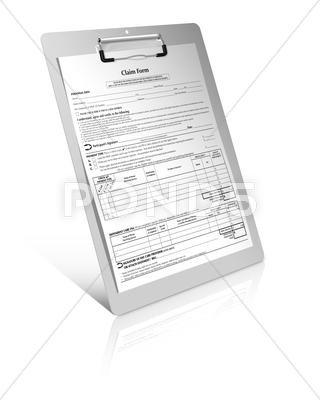 Stock photo of claim form