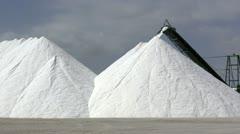 Extraction of salt, conveyor Stock Footage