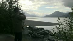 Senior Citizen, Turnagain Arm   - stock footage
