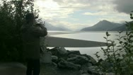 Senior Citizen, Turnagain Arm   Stock Footage
