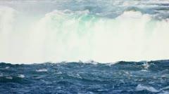 Waterfall Producing Renewable Hydroelectric Energy - stock footage