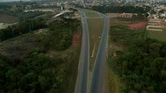 Aerial View of Curitiba City - Contorno Norte Stock Footage