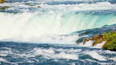 Water Flowing Over Niagara Falls Stock Footage