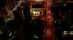 Night Aerial View of Curitiba City Stock Footage