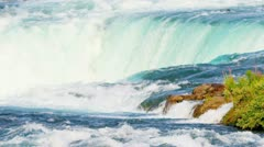 Waterfall Helping Produce Hydroelectricity - stock footage