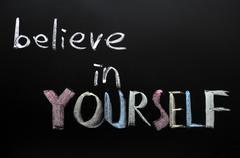 Believe in yourself Stock Photos