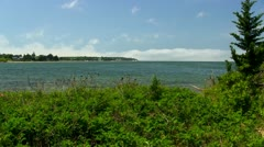 Buzzards bay from Bennets Neck Pocasset Bourne Cape Cod Stock Footage